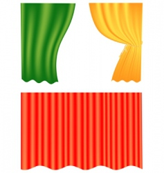 curtain set vector image