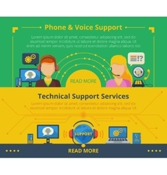 Customer support banner vector image vector image
