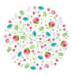 Flower composition vector image vector image