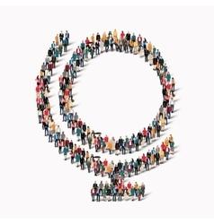 group people shape globe vector image