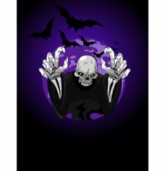 halloween horrible grim reaper vector image vector image
