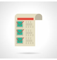 Invoice on goods flat color icon vector image vector image