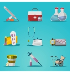 Medicine And Treatment Icon Set vector image