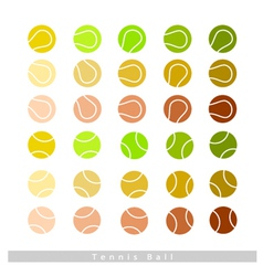 Set of Tennis Balls on White Background vector image vector image