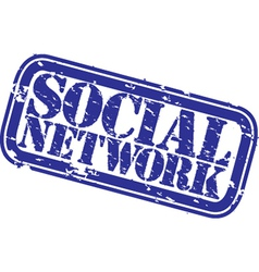 social network stamp vector image vector image