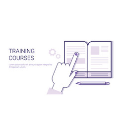 training courses online education business concept vector image