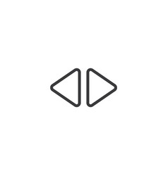 2 side arrow icon isolated perfect pixel vector