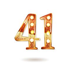 41 years anniversary celebration logotype vector image