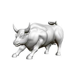 a running bull 3d vector image
