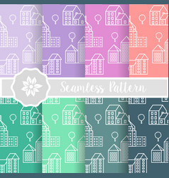 architecture seamless pattern vector image