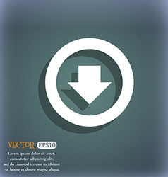 Arrow down Download Load Backup icon symbol on the vector