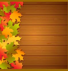 autumn festival frame background vector image
