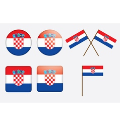 badges with flag of Croatia vector image