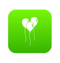 balloons icon digital green vector image