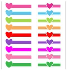 Banner heart vector