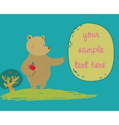 Bear shows a message vector