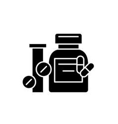 Biologically active additives black icon vector