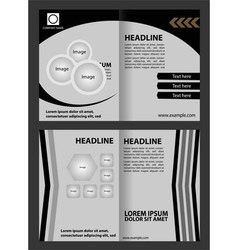 Black and white brochure template vector