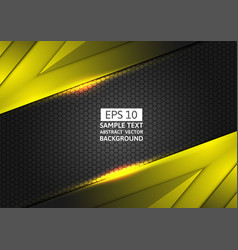 Black and yellow geometric abstract background vector