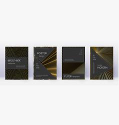 black brochure design template set gold abstract vector image