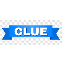 Blue ribbon with clue text vector