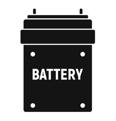 camera battery icon simple style vector image