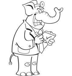 Cartoon Elephant Doctor vector image vector image