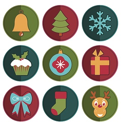 Christmas badges vector