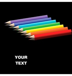 Color pencils on smooth surface vector image