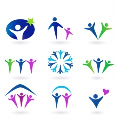 Community network and social icons vector
