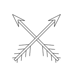 Cross arrows thin line icon vector image