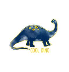 Cute dinosaur t-shirt design with slogan vector