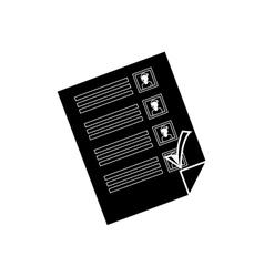 Democracy voting vote vector image
