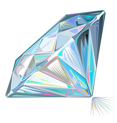 diamond side view isolated vector image