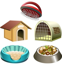 Dog accessories set vector image