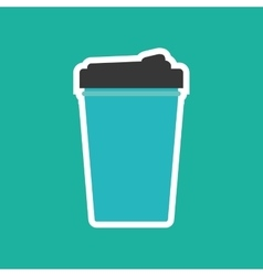 Drink thermo cup vector