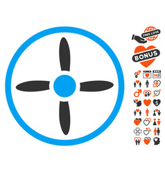 Drone screw icon with lovely bonus vector