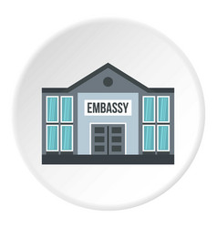 embassy icon circle vector image
