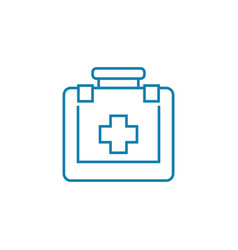 first aid kit linear icon concept first aid kit vector image