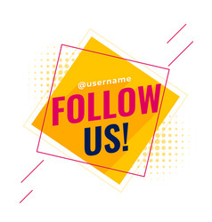 Flat follow us social media banner vector