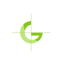 G letter green ecology logo vector