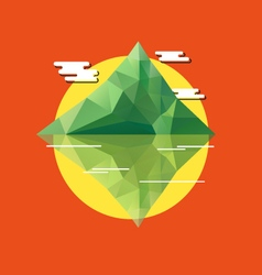 Geometric abstract tropical island vector