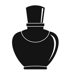 Glass bottle with perfume icon simple style vector