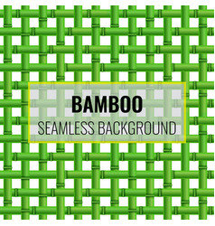 Green bamboo weaving seamless pattern background vector