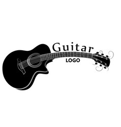 Guitar logo vector