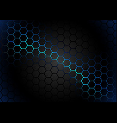Hexagonal pattern on blue magma background vector