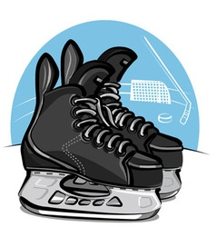 Hockey skates vector