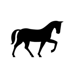 Horse Icon Flat vector image