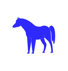 Horse icon in blue color winner vector