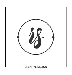 initial letter rs logo template design vector image